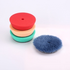 "SPTA 4Pcs Polishing Buffing Pad 3"" 80mm Mix Color Kit For 3 inch Backing RO/DA/Air Polisher, Random Orbit Dual Action Polisher"