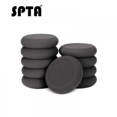SPTA 10Pcs UFO-Shape Black Applicator Wax and Dressing Pads Buffing Pads for Car Polishing & Cleaning