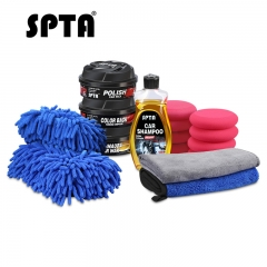 SPTA Ultimate Car Care Kit Premium Detailing Kit with Car Shampoo Soap Microfiber Towels Tire Applicator Sponge Cleaning Kits